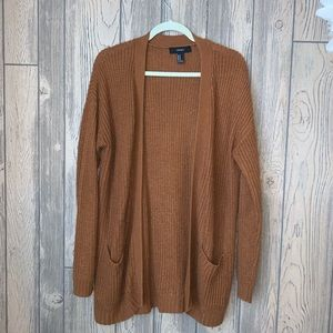 Rust colored Forever 21 cardigan